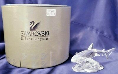 Retired Swarovski Silver Crystal Baby Shark, Excellent condition, boxed, 269236
