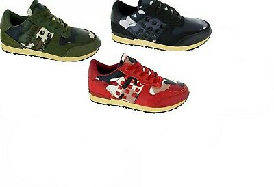 LADIES GIRLS WOMENS FLAT SPORT BAIL RUNNING GYM STUD LACE UP TRAINERS SHOES