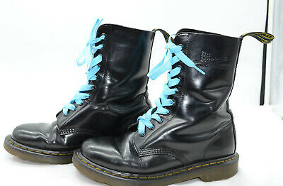b5926dd6a85 Dr. Martens 1490 Virginia 10-Eye Classic Leather Punk Motorcycle Boots  Womens 9