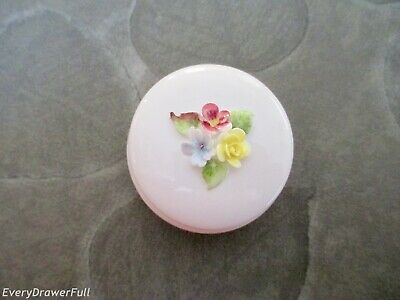 Vintage Coalport Bone China Trinket BOX Floral ENGLAND