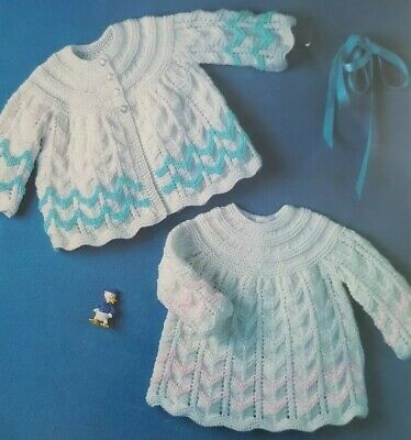 Vintage Knitting Pattern For Baby's Matinee Coat & Angel Top