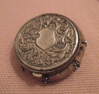 antique 1890 ornate Victorian beaded metal change coin bag box wallet case