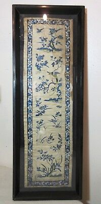 antique hand embroidery silk 1800s ornate Qing dynasty needlepoint tapestry art