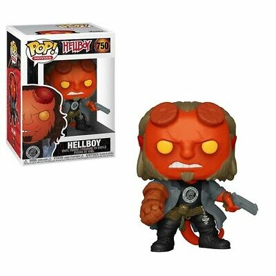 Hellboy - Hellboy W/ Bprd Tee - Funko Pop! Movies: (2019, Toy NUEVO)