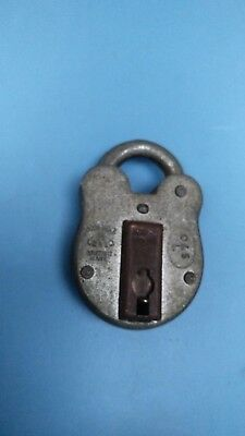 Vintage Antique Look O & S English 2 Lever Padlock Lock All Weather Solid