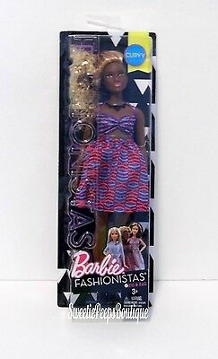 Barbie Fashionistas AA Curvy Doll 57 Zig & Zag Halter Dress