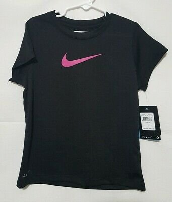 NWT Nike Dri-fit Toddler Girls Shirt Yellow Volt Racer Pink 4T Just Do It