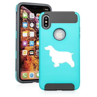 For Apple iPhone X XS MAX XR Shockproof Hard Soft Case Cover Cocker Spaniel