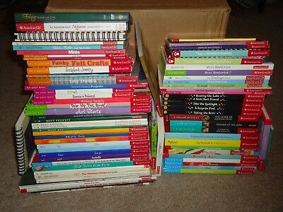 Lot 79 American Girl Books DVDs Felicity McKenna Be Your Best Body & Mind Do-It