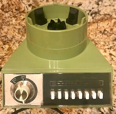 Vtg. Waring blender MOTOR ONLY! Avocado, 8 speeds with Timer! clean, POWERFUL!