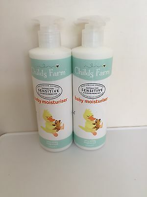 2x250ml Childs Farm Baby Moisturiser Sensitive / Eczema Prone Skin Newborns+
