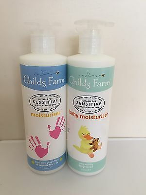 1 x Childs Farm Moisturiser 1x Childs Farm Baby Moisturiser Sensitive / Eczema