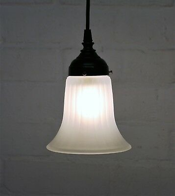 A Vintage Edwardian Style Glass Bell Lampshade Ceiling Light Pendant