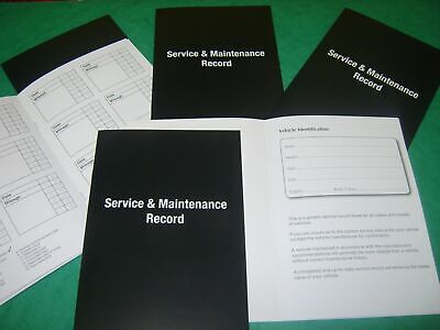 NEW Vehicle Service Book Blank History Maintenance Record Replacement Car Van