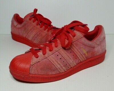 ADIDAS SUPERSTAR 80'S City Series London Trainers Size UK6 Red