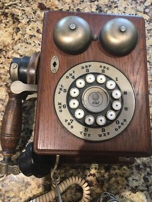 Country Junction Vintage Replica Wall Phone Touch Tone ATT