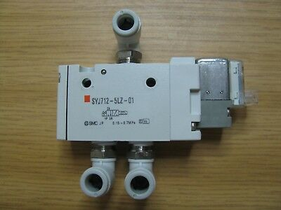 SMC Solenoid Valve SYJ712-5LZ-01T SYJ7125LZ01T 24 VDC+3 Quick Air Angle Fitting
