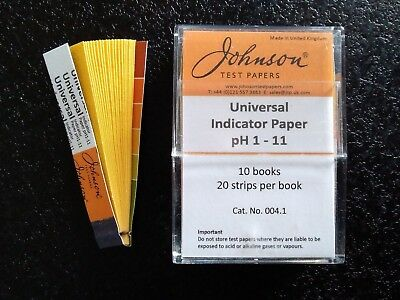Johnson Universal Indicator Paper 10 Books Test paper Ph 1 - 11