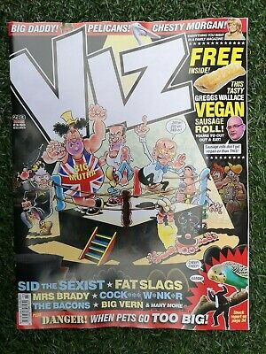Latest ~ Viz Comic Issue 283 March 2019 ~ With Free Vegan Sausage Roll Inside