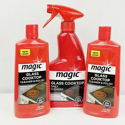 Magic Glass Cooktop Cleaner Polish Cream 16 Fl Oz Stainless
