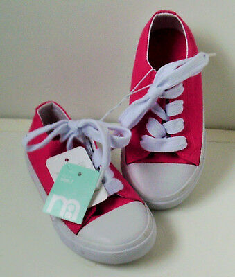 MOTHERCARE Girls Bright Pink Trainers / Sneakers Size 7 BNWT