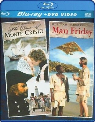Count of Monte Cristo/Man Friday [2 Discs] [DVD/Blu-ray] (Blu-ray Used Like New)