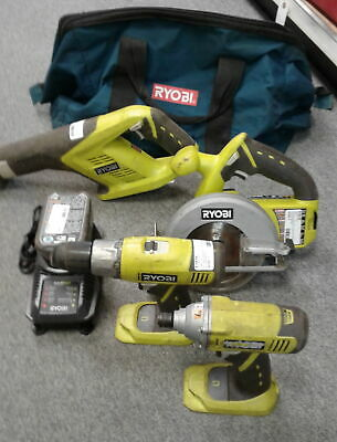 RYOBI TOOL SET All Cordless Drill/Driver, Saw, Vacuum, Chargers, and