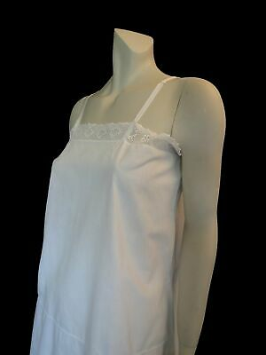 Vintage French Cotton Slip, Petticoat or  Sun Dress, With Crochet Trim - 1920s -