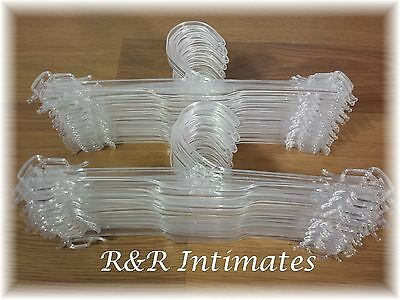 """Lot of 101 Clear Plastic 10/"""" Lingerie Hangers for bras panties slips ds725a"""