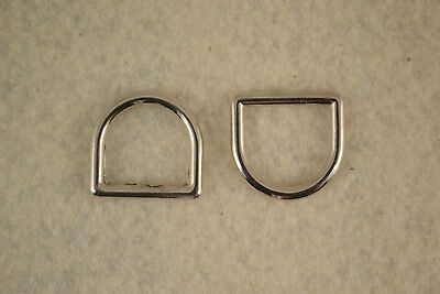 """Dee Ring - 5/8"""" - Nickel Plated - Pack of 100 (F328)"""