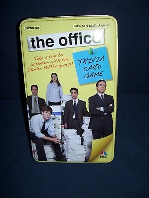 The Office Trivia Card Game Pressman 2009 Used