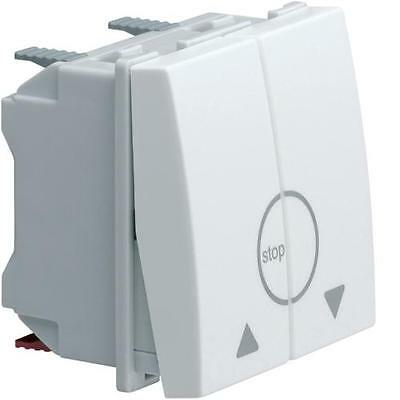 Hager WS301 - Systo 2M Bouton Volets Double Blanc