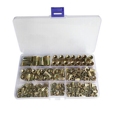 210 Pcs Stainless Zinc Rivnuts Threaded Blind Rivet Nuts Open End Nutsert M4-M12