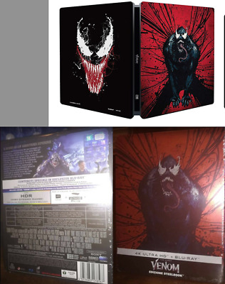 Venom Steelbook Limited Blu Ray + 4k ultra hd italiana Fuori Catalogo