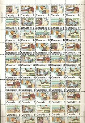 """634 - 639 8¢ """"Postal Services"""" Full Plate Sheet of 50  MVFNH"""
