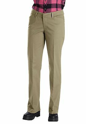 Dickies Pants Khaki Beige Stretch Relaxed Fit Straight Leg Work AP113 Size 8