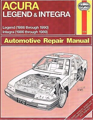 1986-1990 New Acura Legend Automotive Repair Manual Haynes 1986-1989 Integra