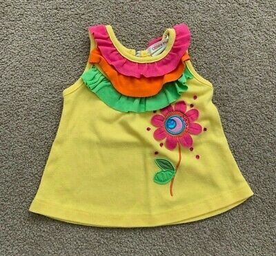 Ollie's Place baby girl yellow embellished top size 00 3-6 months