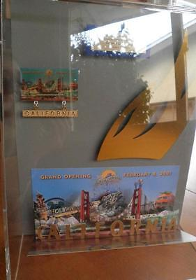 Disneyland California Adventure Opening Day Ticket & Pins in case Limited 500