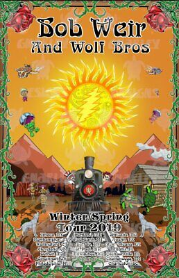 Bob Weir & Wolf Brothers 2019 Tour Poster Dead & Company