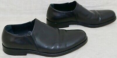 2cd0829b698 GIORGIO ARMANI men s Black LEATHER sip on loafers Thick LEATHER Soles size  43