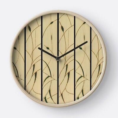 WALL CLOCK w/Exclusive Solar Etched Design ~ Cattails ~ Stunning & Unique