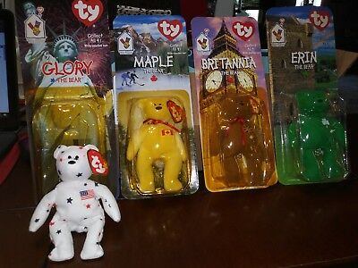 RARE LOT OF 4 Ty Beanie Babies Ronald Mcdonald Charities All 4 With