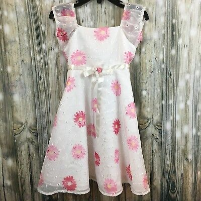 05480039cddd Blueberi Boulevard Floral Eyelet Lace Princess Dress Size 3T Watercolor