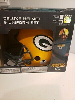 91eab1aa39a Franklin Sports NFL Deluxe Youth Uniform Set Green Bay Packers Medium ages  7-9