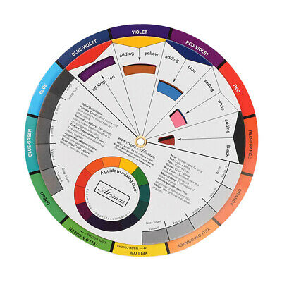 Pocket Colour Wheel Paint Mixing Learning Guide for Salon Art Class Teaching