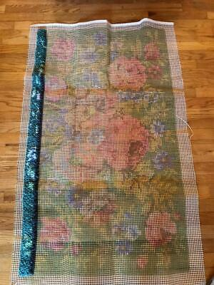 "Vintage Herrschner's Latch Hook Rug Kit Estate Find, Retired  30"" X 48"" w Yarn"