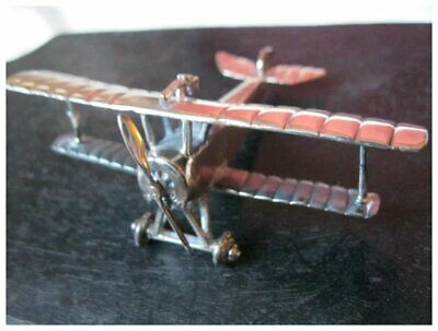 """Vintage Sterling Silver """"MACCHI Nieuport 11"""" Model Airplane--Made in Italy"""