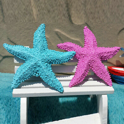 1/2Pcs Resin Starfish Aquarium Fish Tropical Ornament Home Film Props Supply