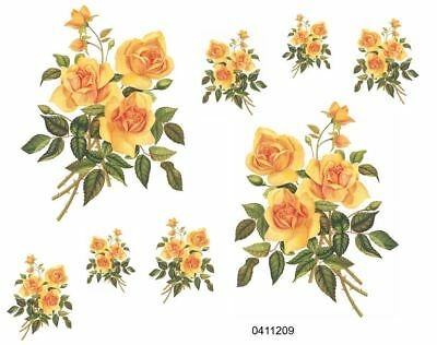 VinTaGe IMaGe XL GoRGeouS STeMmeD SuNFLoWeRs SHaBbY DeCaLs ~FuRNiTuRe SiZe~